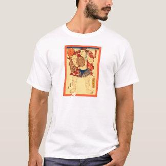 相撲のレスリング選手の~のヴィンテージの日本人のプリント Tシャツ