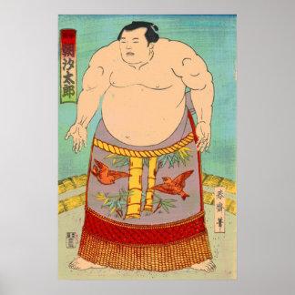 相撲のレスリング選手のAsashioのタロイモ ポスター