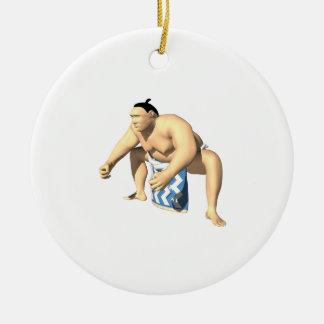 相撲のレスリング選手3 セラミックオーナメント