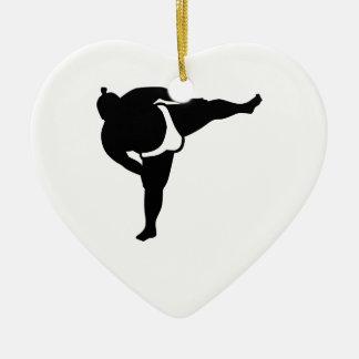 相撲のレスリング選手 セラミックオーナメント