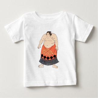 相撲のレスリング選手 ベビーTシャツ