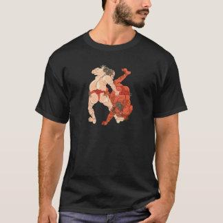 相撲のレスリング選手 Tシャツ