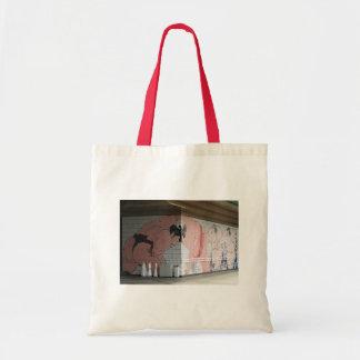 相撲の壁の芸術 トートバッグ