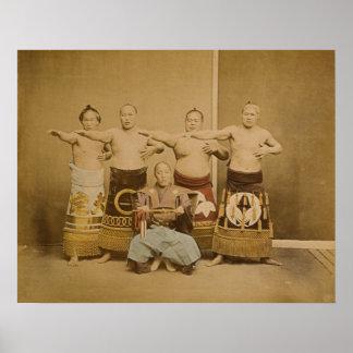 相撲の戦闘機 ポスター
