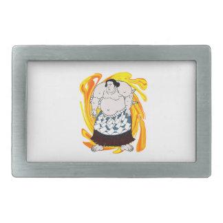 相撲の掃除人 長方形ベルトバックル