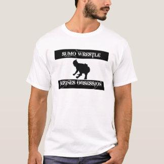 相撲の格闘と取りつかれている Tシャツ