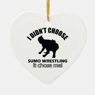 相撲の格闘のデザイン セラミックオーナメント