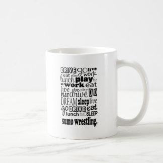 相撲レスリングのギフト コーヒーマグカップ