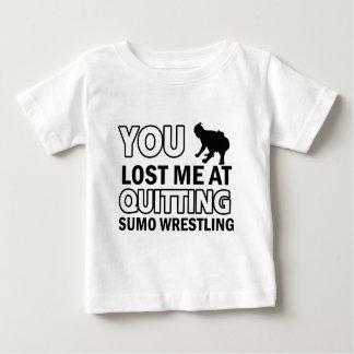 相撲レスリングのデザイン ベビーTシャツ