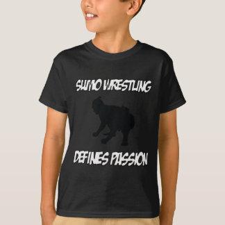 相撲レスリングのデザイン Tシャツ