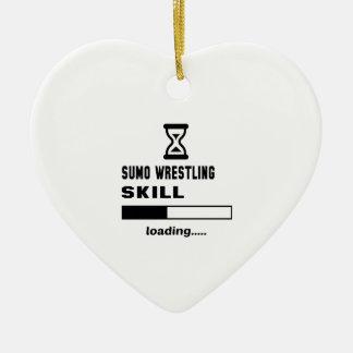 相撲レスリングの技術のローディング...... セラミックオーナメント