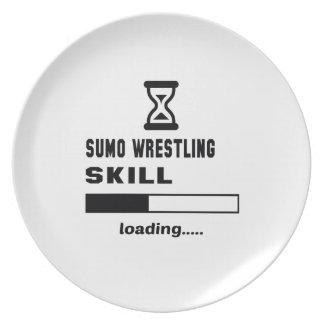 相撲レスリングの技術のローディング...... プレート