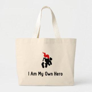 相撲レスリングの英雄 ラージトートバッグ