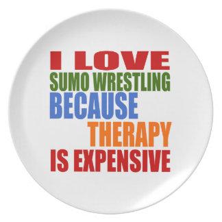 相撲レスリングは私のセラピーです プレート