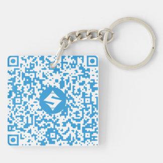 """相撲QR Code/QRコード両面のKeychain 2"""" キーホルダー"""