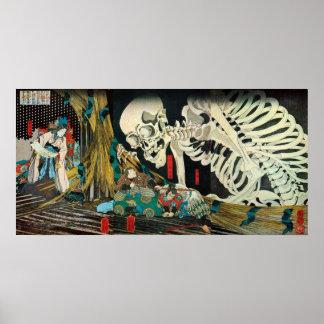 相馬の古内裏、魔法使い、Kuniyoshが処理する国芳の骨組 ポスター
