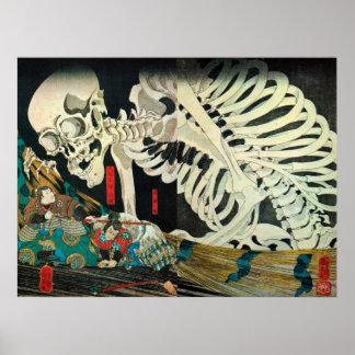 相馬の古内裏、魔法使い、Kuniyoshiが処理する国芳の骨組 ポスター
