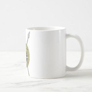盾のハリネズミのバイキング コーヒーマグカップ