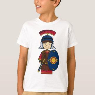 盾のTシャツを持つローマの兵士 Tシャツ