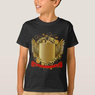 盾フレームただ5透明 Tシャツ
