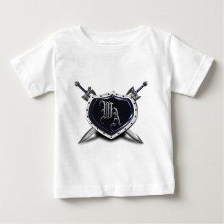 盾 ベビーTシャツ