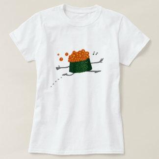 省略のサーモンピンクの卵のおもしろいな寿司 Tシャツ