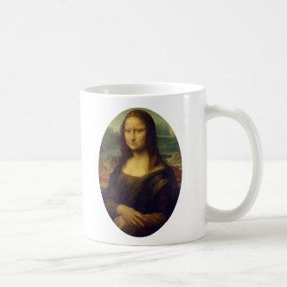 眉をひそめるモナ・リザ コーヒーマグカップ