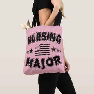 看護の大学専攻学生愛国心が強い米国旗 トートバッグ