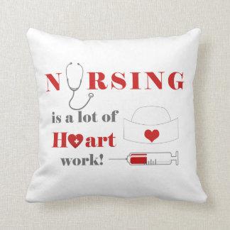 看護は多くのheartworkです クッション