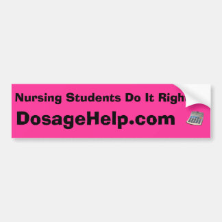 看護学生それはバンパーステッカー、ピンクを訂正します バンパーステッカー