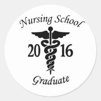 看護専門学校の卒業生 ラウンドシール