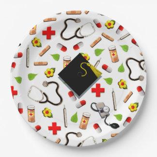 看護専門学校の卒業 ペーパープレート