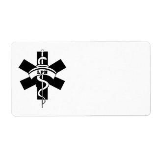 看護LPNのナース 発送ラベル