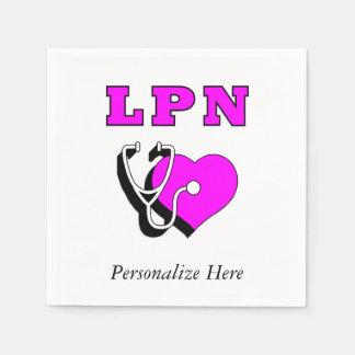 看護LPNの心配 スタンダードカクテルナプキン