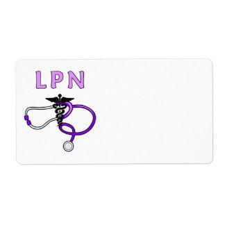 看護LPNの聴診器 ラベル