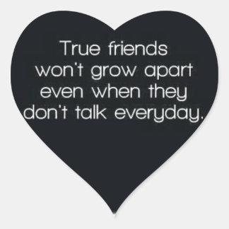 真の友達は離れて育ちません ハートシール