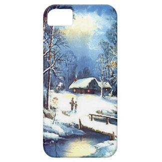 真冬の村 iPhone SE/5/5s ケース