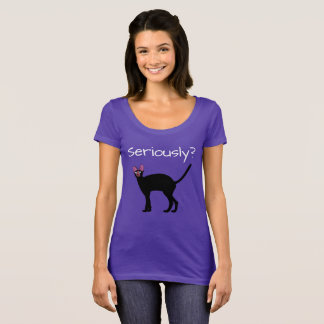 真剣にか。 おもしろいな猫のTシャツ Tシャツ