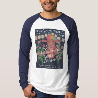 真夏のヤギの夢の野球のTシャツ Tシャツ