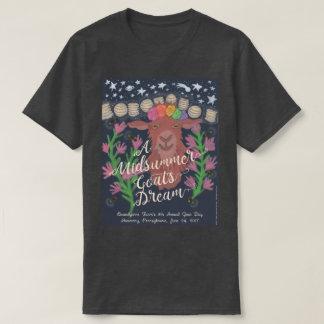 真夏のヤギの夢のTシャツ(木炭) Tシャツ