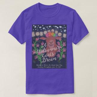 真夏のヤギの夢のTシャツ(紫色) Tシャツ