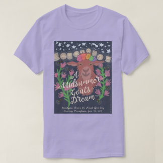 真夏のヤギの夢のTシャツ Tシャツ