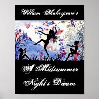 真夏の夜の夢のウィリアム・シェイクスピアを演じて下さい ポスター
