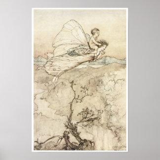 真夏の夜のDreamの1907年のヴィンテージの妖精の芸術 ポスター