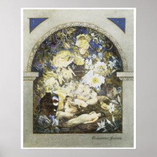 真夏の妖精、c. 1885年 ポスター