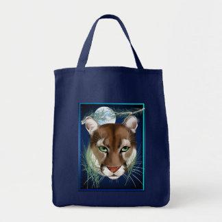 真夜中のオオヤマネコのバッグ トートバッグ
