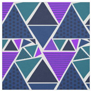 真夜中の三角形パターン ファブリック
