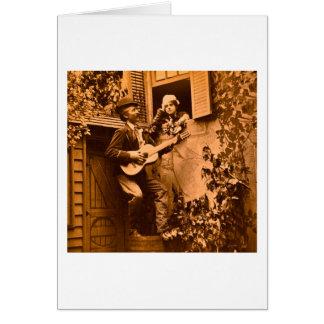 真夜中の吟遊詩人のセレナーデ-ヴィンテージ1881年 カード