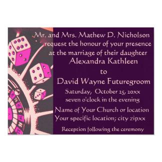真夜中の情熱のカジノのテーマの結婚式 カード