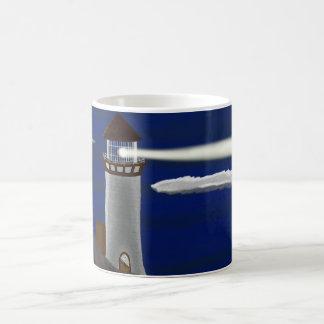 真夜中の灯台景色 コーヒーマグカップ